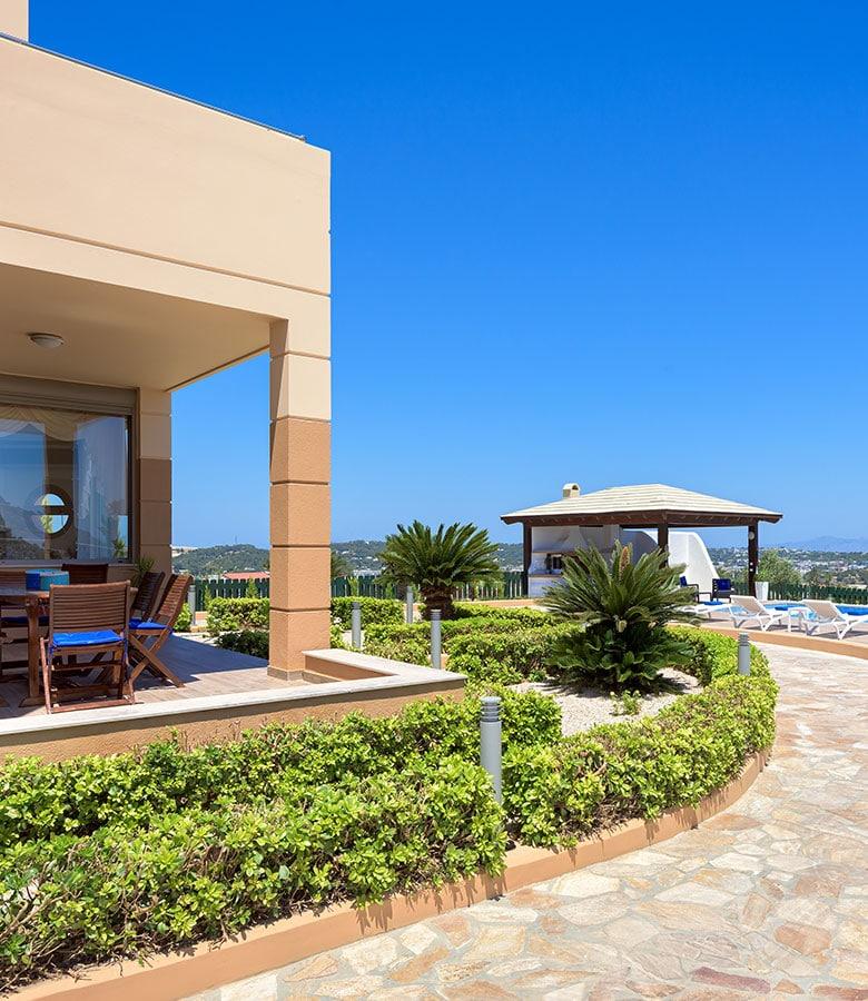 villas with view in rhodes