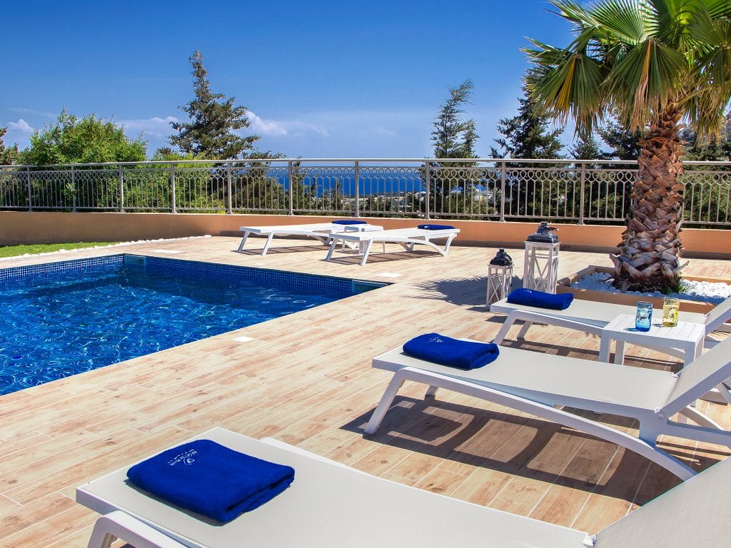 luxury villa with pool in rhodes